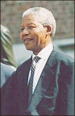 Nelson Mandela, the 1st democratically elected President of South Africa.