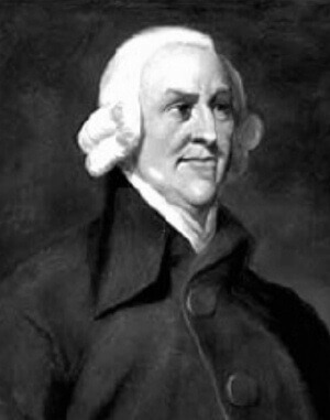 Adam Smith, philospher, moralist, author.