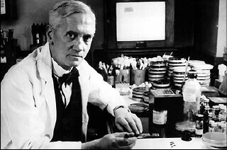 Dr. Alexander Fleming, discoverer of penicillin.