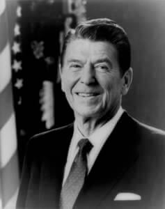 Ronald Reagan, actor, governor and President of the United States.