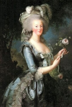Marie Antoinette with Rose. 1783. by Vigee Le Brun, Versailles