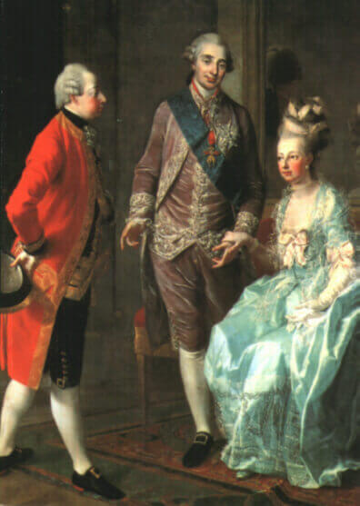Marie Antoinette, the Archduke Maximilian and Louis XVI. by Joseph Hauzinger, 1775/77, Kunsthistorisches Museum, Wien