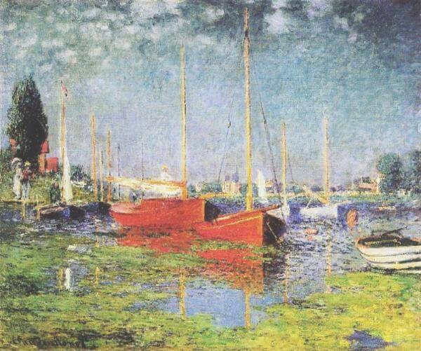Red Boats at Argenteuil, 1875, Claude Monet, Musée de l'Orangerie, Paris