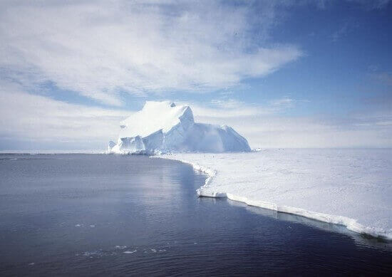 View Of The Riiser Larsen Ice Shelf In Antarctica E