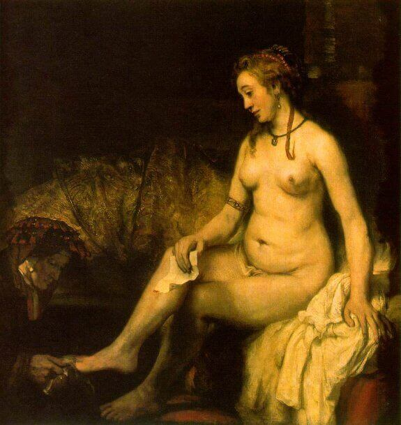 Bathsheba at Her Bath. 1654. Musee du Louvre, Paris