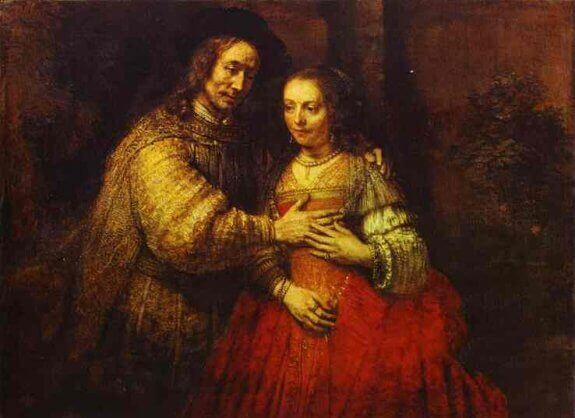 Isaac and Rebecca. (The Jewish Bride). 1666. Rijksmuseum, Amsterdam, the Netherlands