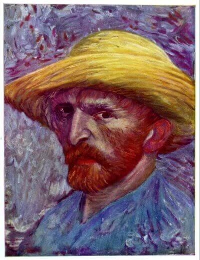 Self-Portrait with Straw Hat Paris: Summer, 1887