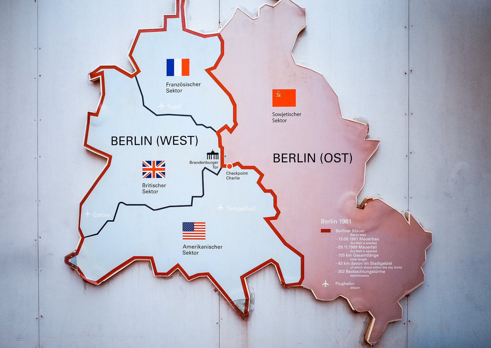 Map of Divided Berlin