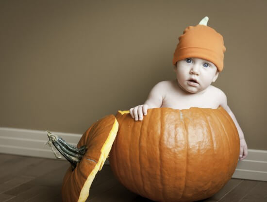 bigstock-Baby-boy-in-pumpkin-10490117