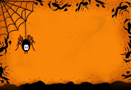 Spider Halloween Background