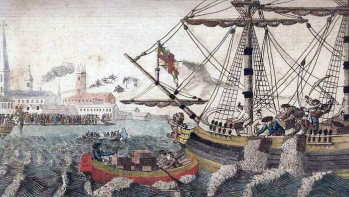Boston Tea Party Coloring Page - Coloring Home | 393x696