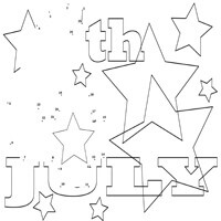 Starry celebration dot-to-dot