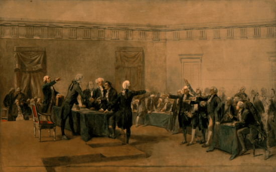 Signing Of Declaration Of Independence By Armand Dumaresq C E