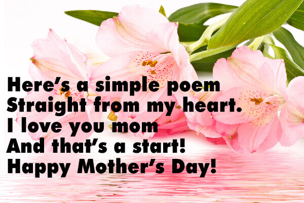 Short Mother S Day Poems Mother S Day Surfnetkids Sed and wc (but you probably have those already). short mother s day poems mother s day