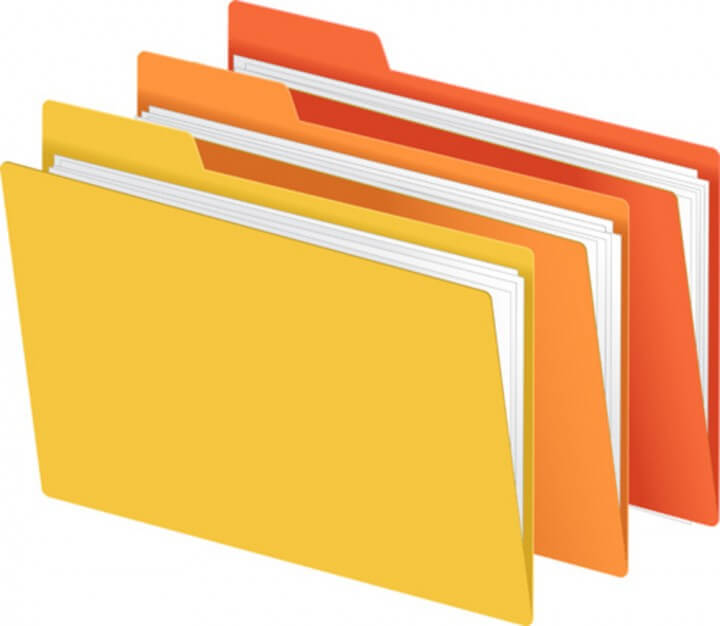 File Folders In Bright Colors