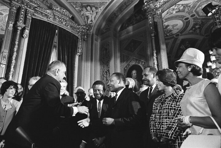 Lyndon Johnson And Martin Luther King Jr. Voting Rights Act