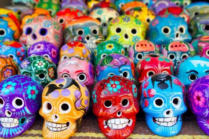 Aztec Skulls Mexican Day Of Th