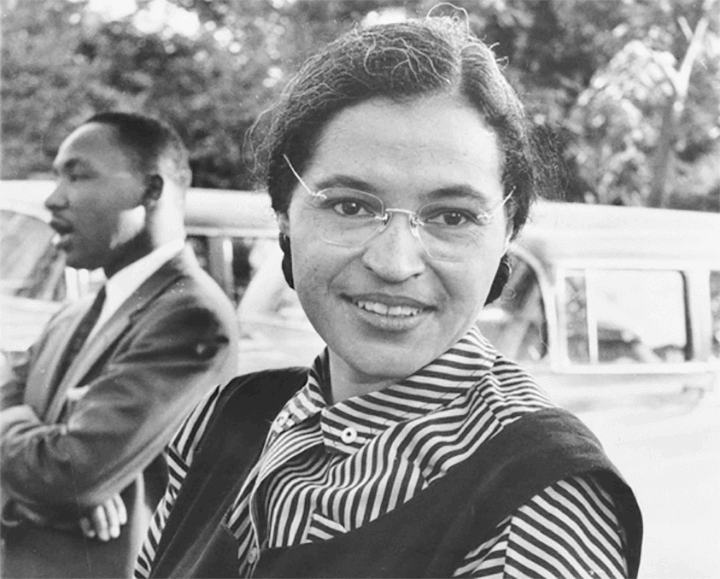 Rosa Parks with Martin Luther King