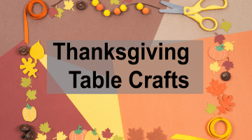 Thanksgiving Table Crafts