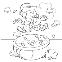 A Coloring Page to Treasure