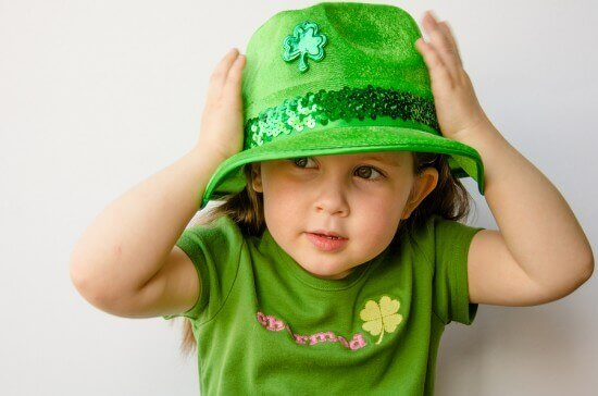 Little Girl with St Patrick's Day Hat