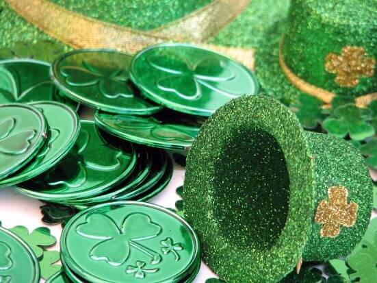 St Patrick's Day Hat and Coins