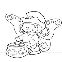 Leprechairy Coloring Page