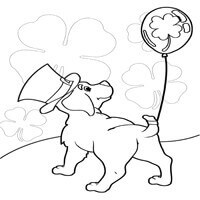 St. Patty's Pup Coloring Page