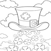 Clover Explosion Coloring Page