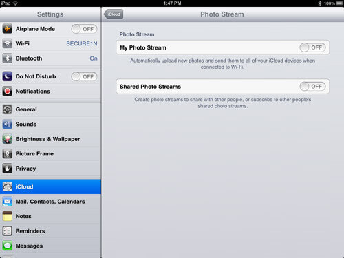 How to Disable Photo Stream