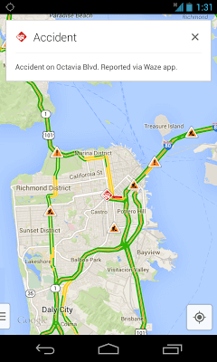 Crowdsourced Traffic Data Coming to Google Maps