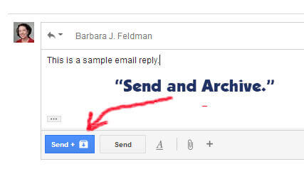 Gmail's Send and Archive