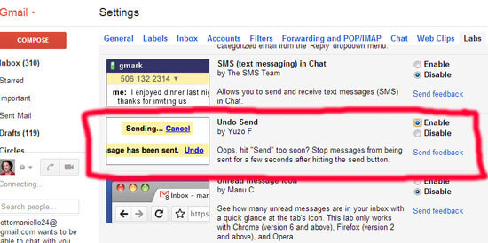 How to Use Gmail's Unsend Button