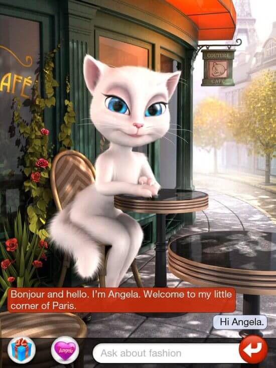 Despite recent chain letters to the contrary, the iOS Talking Angela app is innocuous.