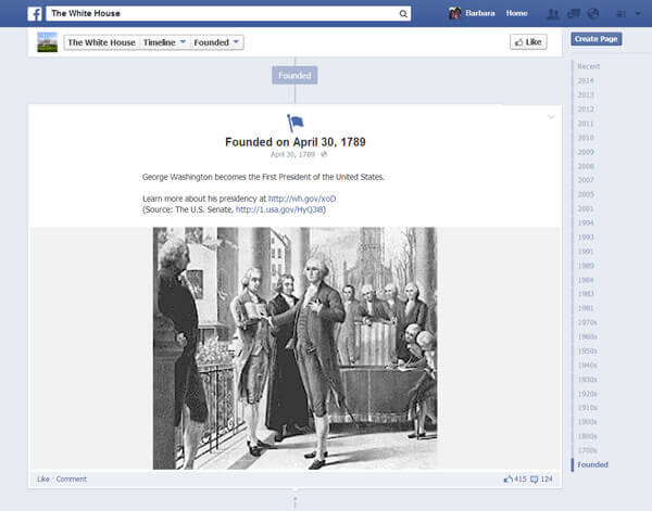 7 Facebook Profiles that Teach US History