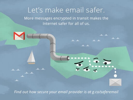 Google promotes safer email for everyone.