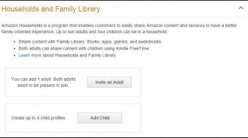 How to Setup Amazon Family Sharing
