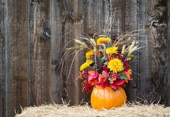 An Hour Or Less: Floral Pumpkin Arrangement