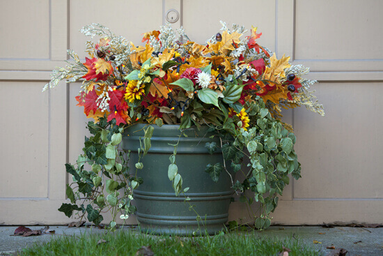 Autumn Leaf Flower Pot for Your Porch