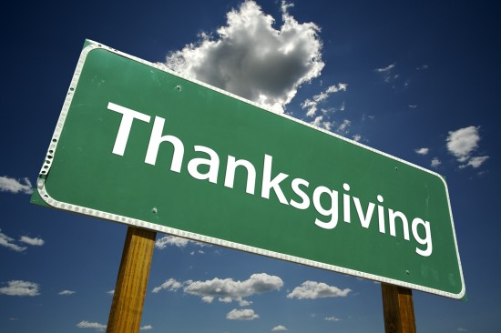 Thanksgiving Road Sign