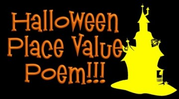 Halloween Place-Value Math Poem