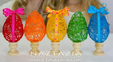How To Make a String Yarn Easter Egg