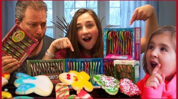 Candy Cane Challlenge – Kids Making Christmas Cookies